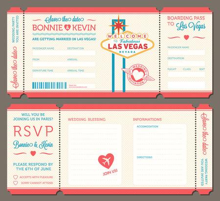 biglietto: 3 hi dettaglio vettoriale Grunge biglietti per Inviti di nozze e Promemoria. Ogni biglietto è di 4 livelli differenti con testo, Decos, effetto di struttura e forma sfondo separati.