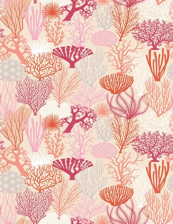 Bezszwowych tekstur z różnych korali formacje illistrations wektorowej Ilustracje wektorowe