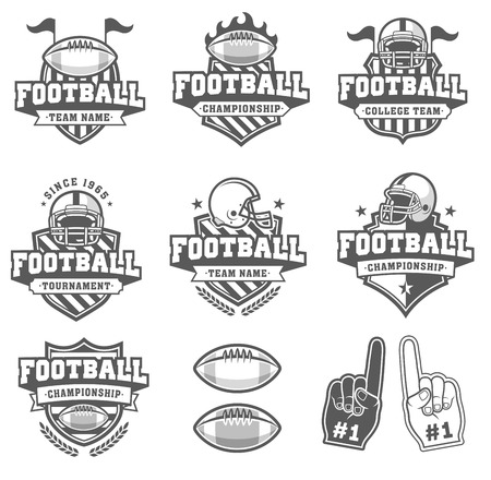 greyscale: Collection of six Greyscale football and insignias