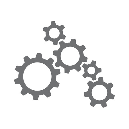 icon of several machinery cogs and gears working together 版權商用圖片 - 61052828