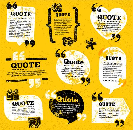 gran conjunto de vectores de etiquetas decoración cotización del grunge para la web y la edición de papel