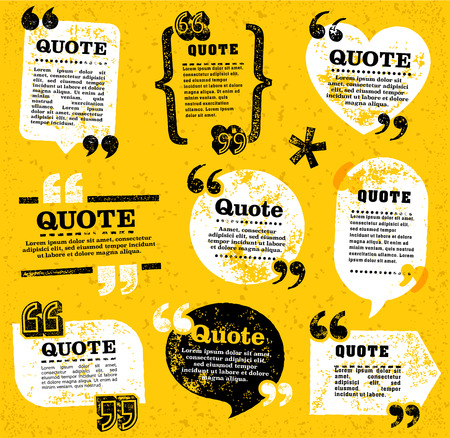 big set of vector grunge quote decoration labels for web and paper publishing