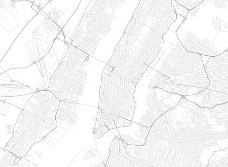 すべての通りニューヨークと周辺マップのベクトルの背景。