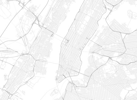 Vector Background With All Streets Of New York And Surroundings