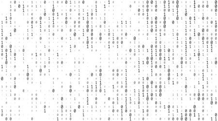 흰색 배경에 0과 하나의 숫자로 구성된 텍스쳐