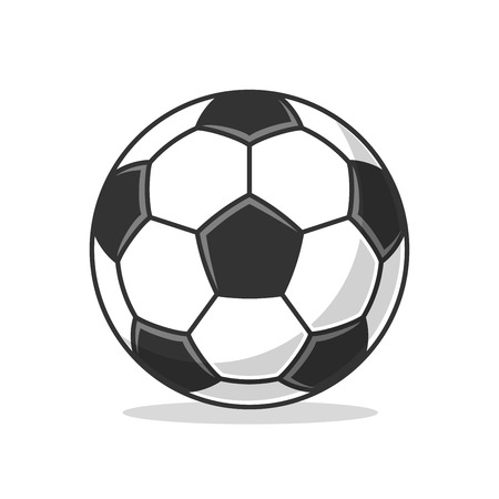 Soccer ball icon. Flat vector illustration on white background.