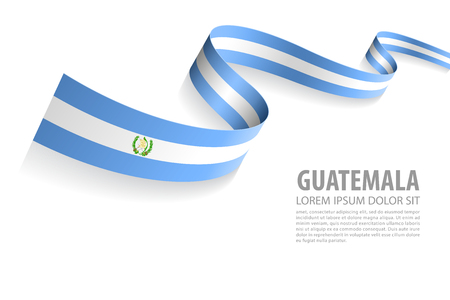 Vector Illustration Banner with Guatemala Flag colors in a perspective view Vetores