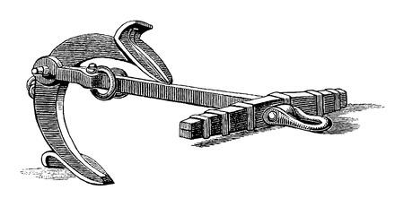 Full Vector illustration Illustration of a High Detail Vintage Martins Anchor Engraving