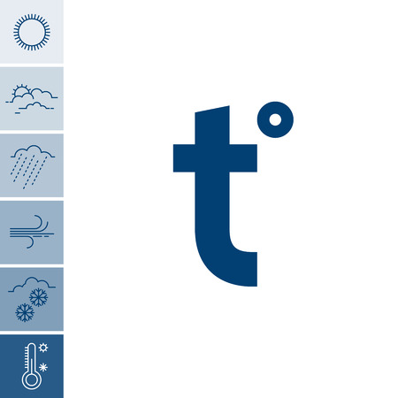 Elegant set of Meteorological weather icons. Full Vector illustrations in outlined style