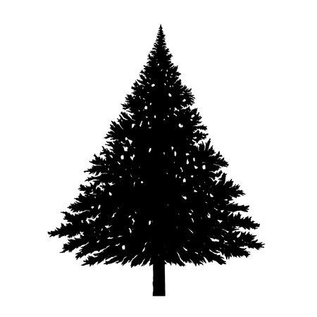 Christmas Trees Pictogram Illustration