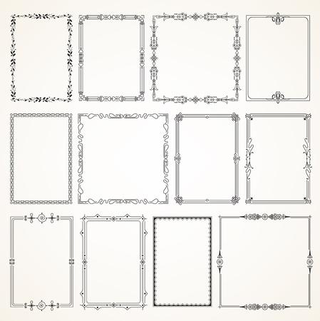 Decorative vintage frames borders backgrounds