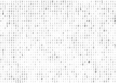 Vector - Abstract Matrix Background. Binary Computer Code. Coding  Hacker concept. Vector Background Illustration.