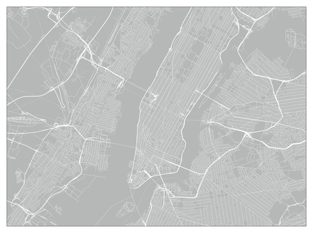 Vector city map of New York