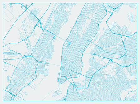 New York City blue street map texture