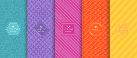 retro seamless pattern textures vector illustrations. great for wallpapers or web backgrounds