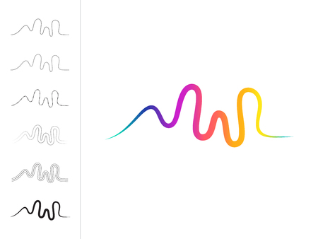 Vector  sound wave, studio music dj. Audio system. Brand, branding.