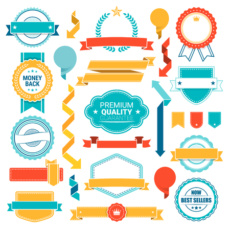 Labels Stickers Banners Tags Bannersn vector design collection