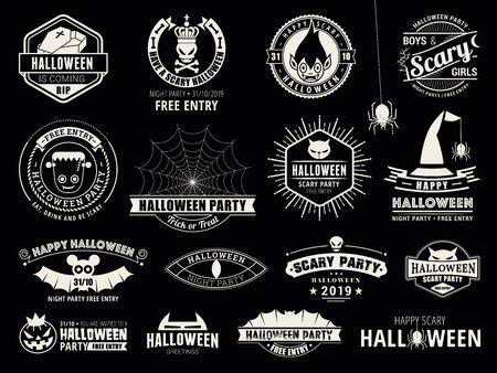 Set der Halloween-Feiersammlung
