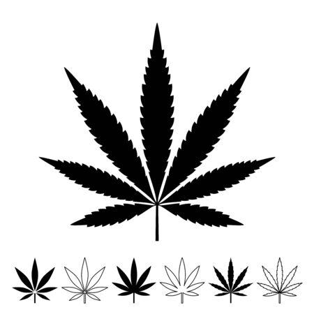Weed Marijuana cannabis leaf vector icon logo illustration Ilustração