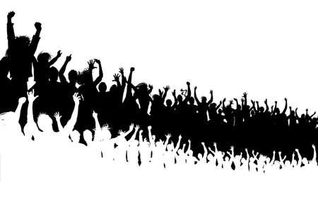 Concert crowd Vector Illustration