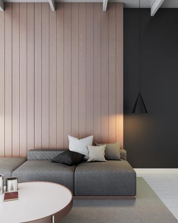 loft living: modern loft living room