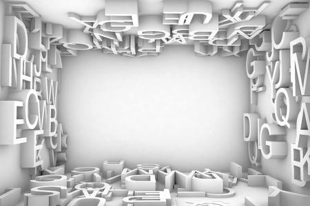 random: illiustration backGround Random type on wall