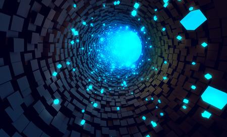 tunel: La tecnología de transferencia de datos del túnel de fondo Foto de archivo
