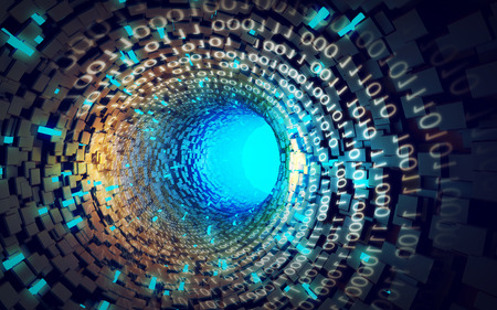 illustration Blue Tunnel data abstract style
