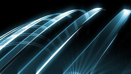 Glas transparent Curve Hintergrund Technologie Standard-Bild - 43736576