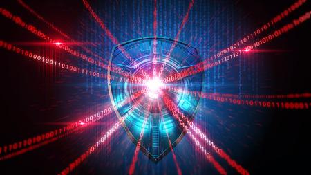 Shield Firewall bescherming hacker illustratie Stockfoto - 43736585