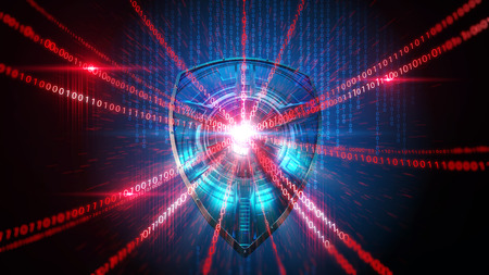 Shield Firewall Schutz Hacker-Illustration Standard-Bild - 43736585