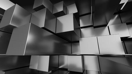 Blauer Würfel Blocks Hintergrund 3D-Render Illustration Standard-Bild - 44584466