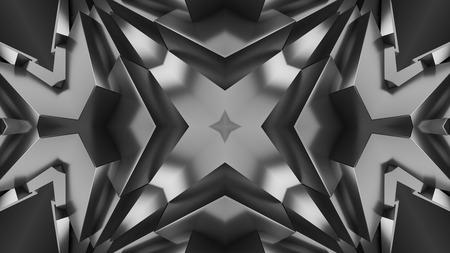 Geometric Back and White Background 3d Render Illustration Reklamní fotografie