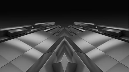 Geometrische Rückseite und weißem Hintergrund 3D Abbildung Render Standard-Bild - 44584473