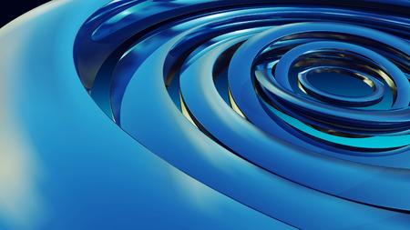 Blau glänzend Kreis-Hintergrund-Illustration, Technologie Standard-Bild - 44584477