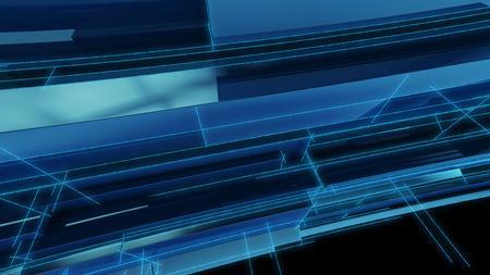 Geometrische blauen Hintergrund 3D-Darstellung Render Standard-Bild - 44584478