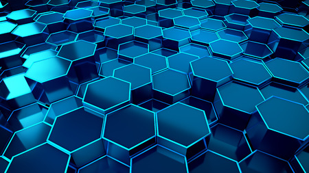 Honeycomb Blue Background Technology