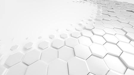Honeycomb White Hintergrund Technologie Standard-Bild - 76131222