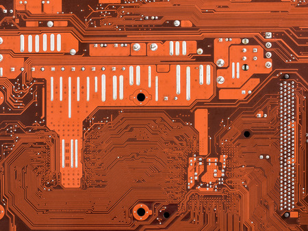 close up of electronics circuit mainboard ( Main board,cpu motherboard,logic board,system board or mobo board)