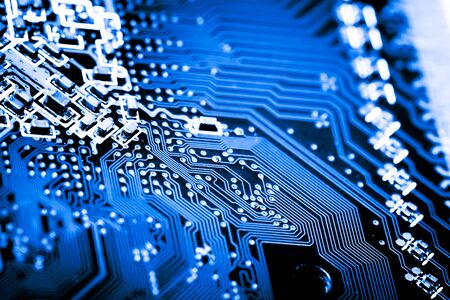 Abstract, close up of Circuits Electronic on Mainboard Technology computer background . (logic board,cpu motherboard,Main board,system board,mobo)