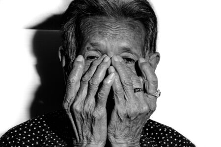 heartsick: The old womans felling lonely. ,shes senior woman in family and the elderly.