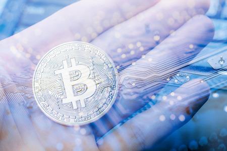 Abstract,Golden Bitcoin money