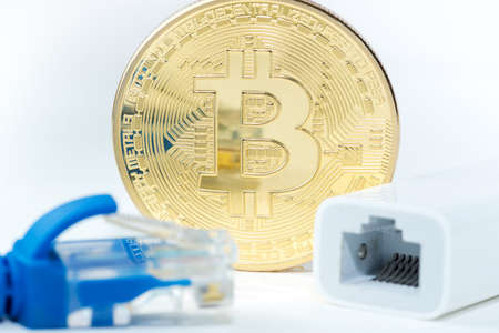 Golden Bitcoin money
