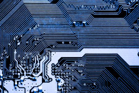 Abstrakcyjna, zamknąć obwody Elektroniczne na płycie głównej komputera Technologia tła. (płyta logiczna, płyta główna procesora, płyta główna, płyta systemowa, mobo) Zdjęcie Seryjne