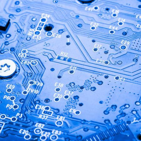 Abstract,close up of Circuits Electronic on Mainboard computer Technology background. (logic board,cpu motherboard,Main board,system board,mobo) Stock Photo