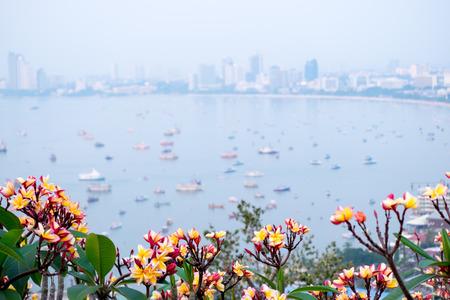The most beautiful Viewpoint Pattaya Beach in Pattaya city Chonburi,Thailand. Stock Photo