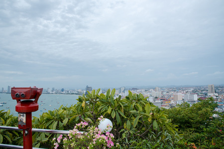 The most beautiful Viewpoint Pattaya Beach in Pattaya city Chonburi,Thailand. Фото со стока