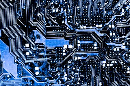 Estratto, fine su del fondo del computer elettronico di scheda madre. (scheda logica, scheda madre cpu, scheda principale, scheda di sistema, mobo)