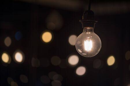 abstract Old light bulb vintage background. Banco de Imagens