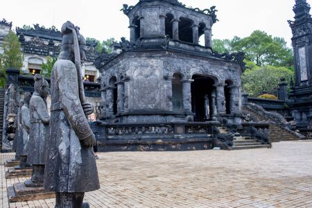 The most notable place in Khai Dinh Tomb in vietnam Imagens